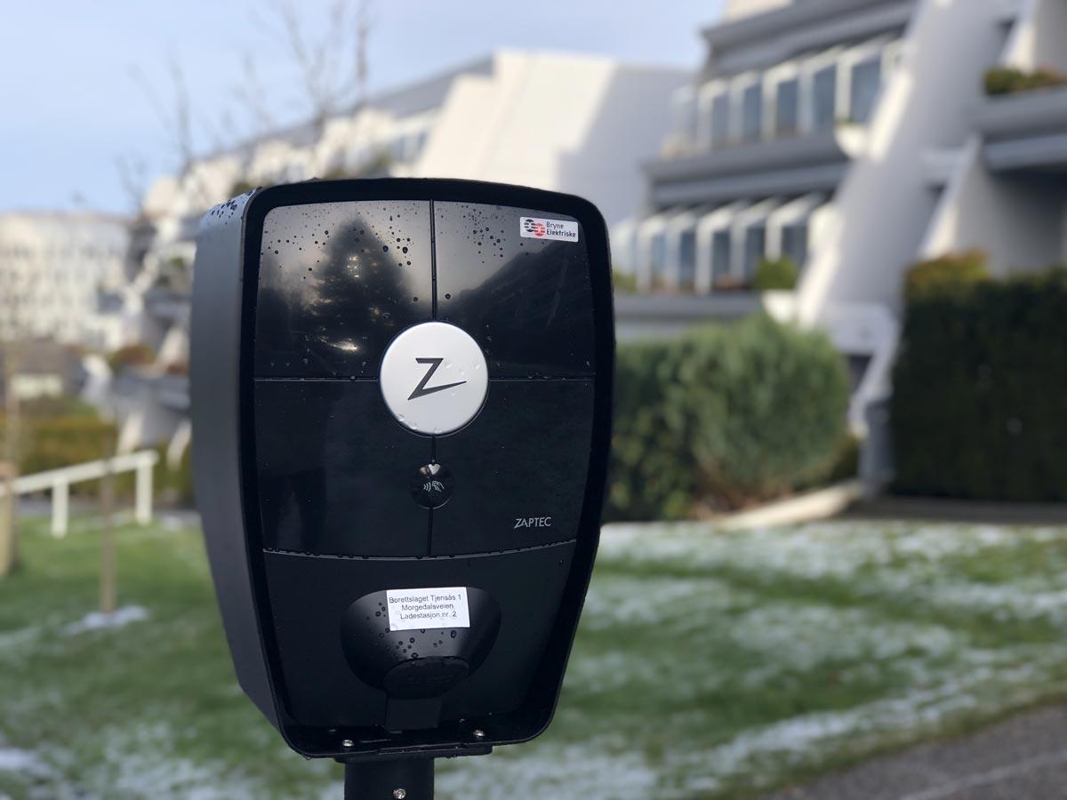 El billadestasjoner for Tjensås Borettslag Bryne Elektriske